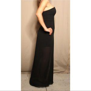 Strapless Sheer Mini Dress